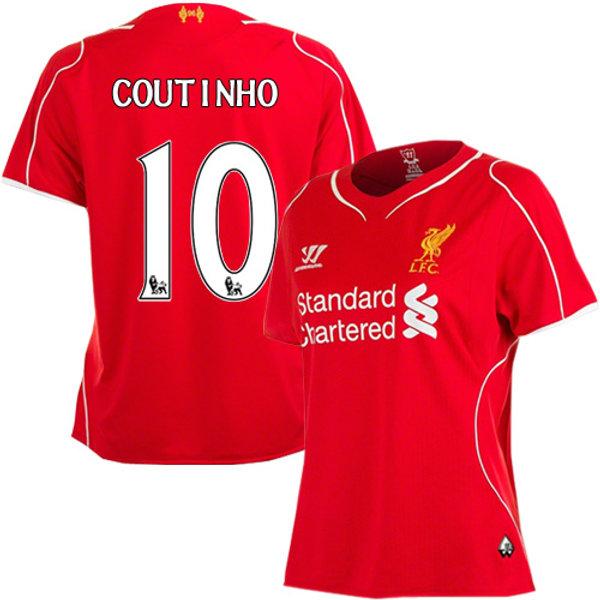 online retailer 8a8d9 daead Coutinho Liverpool Home Kit