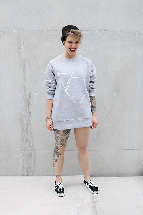 Pullover Grafikherz hellgrau, Ladies