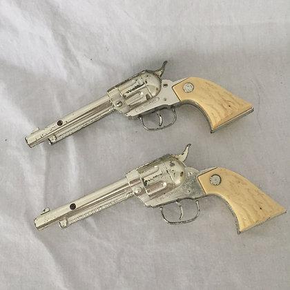 RARE Nichols Silver Pony Cap Pistols-1960s