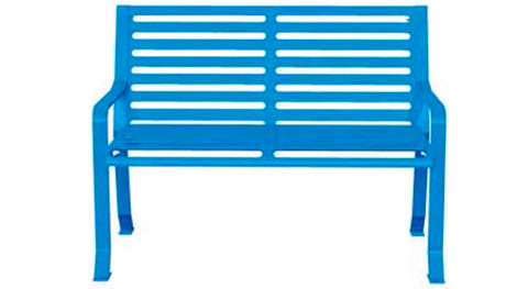 4' Horizontal Slatted Bench HSB4