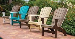 Marine Grade Adirondack, Marine Grade Resin Furniture, Commercial Marine Grade Polymer Furniture, Commercial Outdoor Furniture by Contract Furnishings