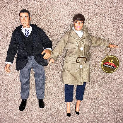 GET SMART- Maxwell Smart & Agent 99 -  loose figures - Exclusive Premier Figures