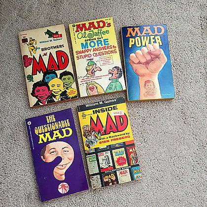 mad, Mad Magazine, Alfred E. Neuman, star wars, vintage, paperbacks