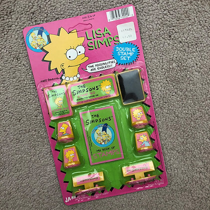 Lisa Simpson Double Stamp Set • 1990 Ja-Ru