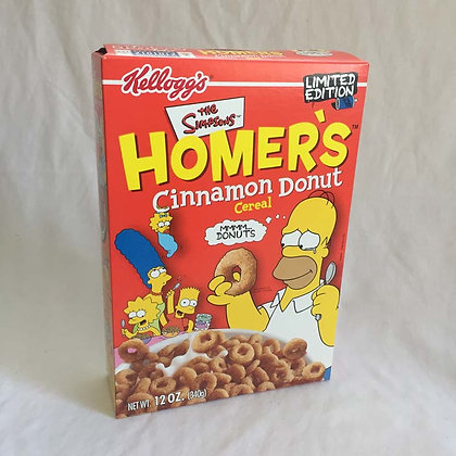 Simpsons, Homer Donuts Cereal Box, collectible, toys, batman, pee wee herman, star wars, star trek, super heroes, weird toy