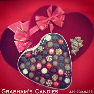 Valentines Day Candy Filled heart Shape
