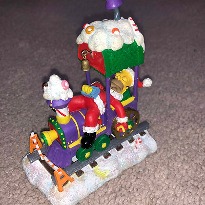 Simpsons Christmas Train featuring Homer Simpson made by Collectibles Today