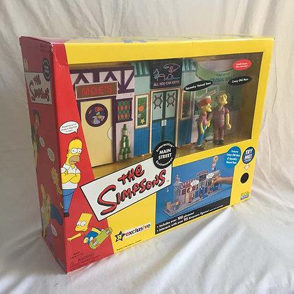 simpsons, Main Street Environment, collectible toys, batman, pee wee herman, star wars, star trek, super heroes, weird