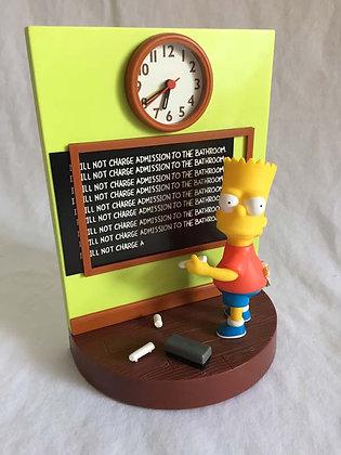 simpsons, Bart Simpson Talking Alarm Clock, collectibles toys, batman, pee wee herman, star wars, star trek, super heroes, we