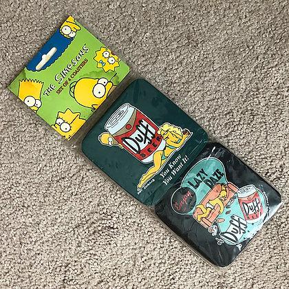 Duff Beer Soft Coasters - Australian - 1996 - 4 Pack