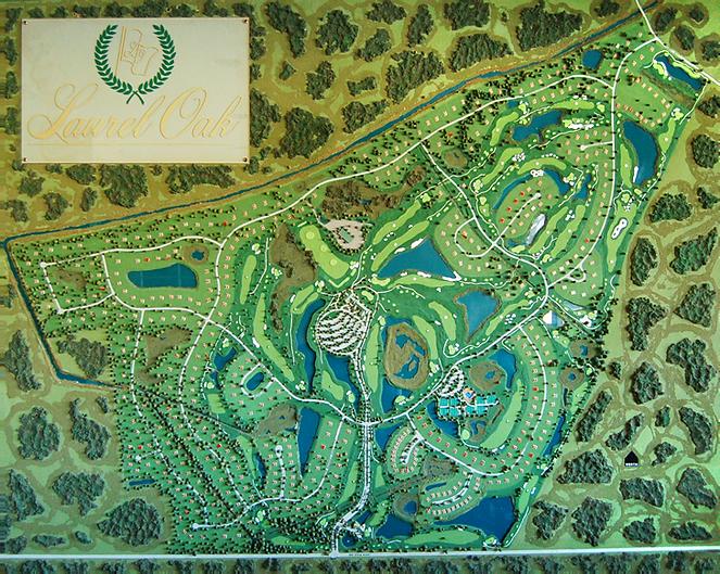Laurel Oak Community Map, Sarasota gated community