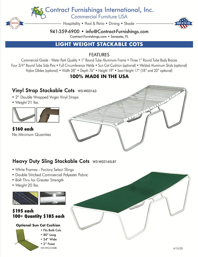 Emergency Cots, Contract Furnishings is listed on the SAM Disaster Response Registry