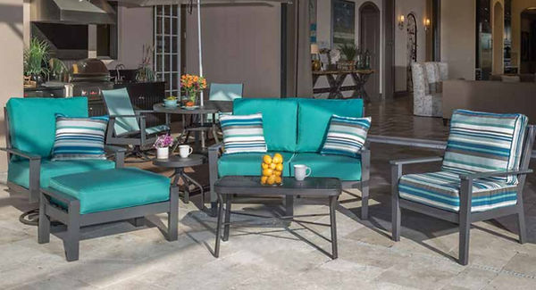 Commercial Patio Furniture Made in the USA, Contract Furnishings, Marine Grade Polymer Deep Seating Commercial Outdoor Patio Furniture