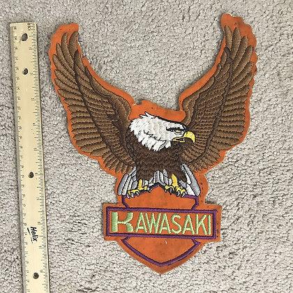 """Kawasaki Eagle Patch - Cloth - 10"""" high"""