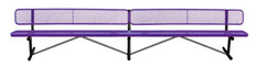 15' Standard Expanded Bench w Back Portable B15WBP