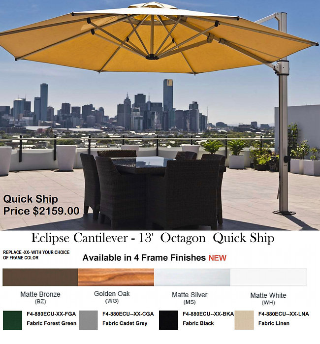 Contract Furnishings Quick Ship Sale Umbrellas
