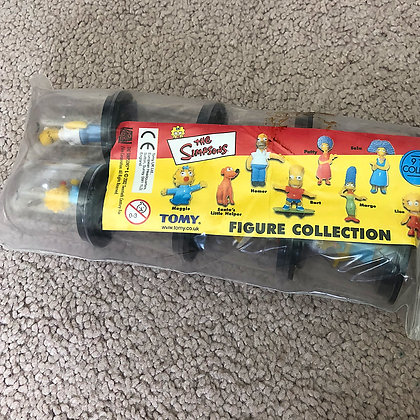 Simpsons (Australian)  Small Figures in Bubbles - TOMY - 2002 - MINT