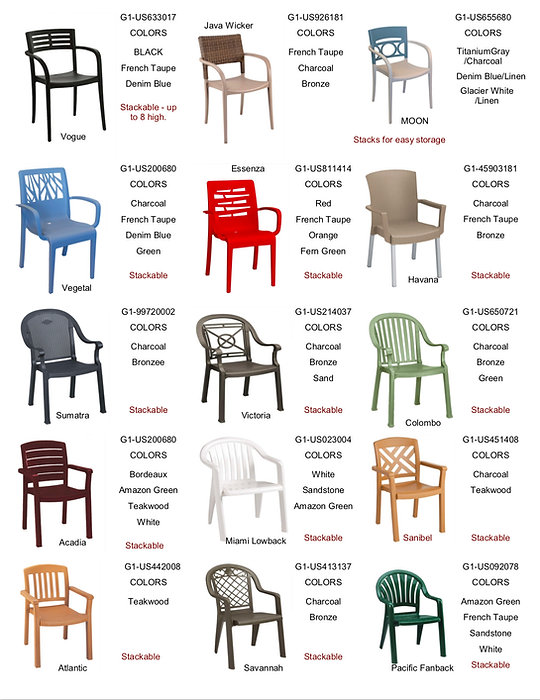 Grosfillex Resin Chairs Contract Furnishings International