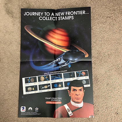 Star Trek US Postal Service Poster featuring Mr. Spock