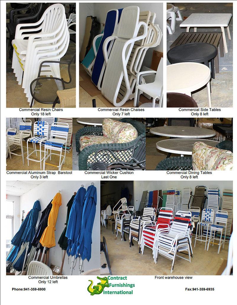 Commercial Outdoor Pool & Patio Furniture WAREHOUSE LIQUIDATION Sarasota Fl