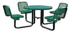 """36"""" Round Table w 4 Chairs Portable L2-R36WCP"""