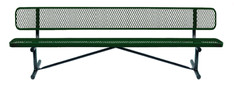 10' Standard Expanded Bench w Back Portable B10WBP