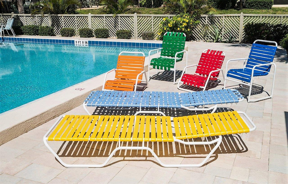Re-strapping, Repairing and Refinishing Your Old Pool Furniture