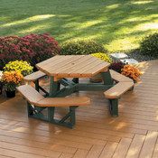 Hexigon Picnic Table P1-FP1020, Recycled Poly Lumber