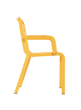 Cannes Armchair Yellow Sideview