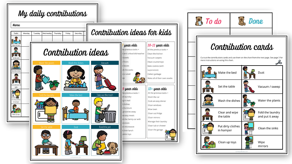 Contribution Charts for Kids