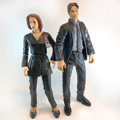 X-Files McFarland Lot Of 2 - Mulder & Scully - 1998 - Loose Figures