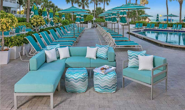 Contract Furnishings Aluminum Deep Seating South Beach Collection