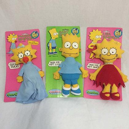 Simpsons Rag Doll, Bart, Lisa, simpsons, collectibles toys, batman, pee wee herman, star wars, star trek, super heroes, weird