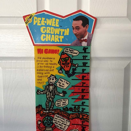 Pee Wee Herman Growth Chart, collectibles toys, batman, star wars, star trek, simpsons, super heroes, weird t