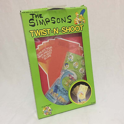 simpsons twist n shoot game, collectibles toys, batman, pee wee herman, star wars, star trek, super heroes, weird