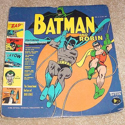 Batman 33 rpm Vinyl Record, ninja turtles, collectibles toys, batman, star wars, star trek, simpsons, super he