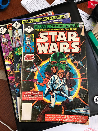 Star Wars #1, #2 and #3 - Marvel Reprints 2nd Print B - 1977
