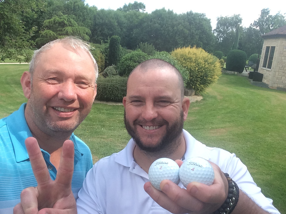 Scarthingwell Director of Golf Tony Howarth (L) and Fraser Black (R)