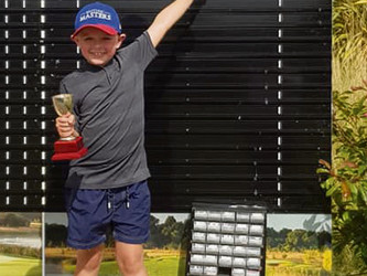 Young Tom's a winner at 8!