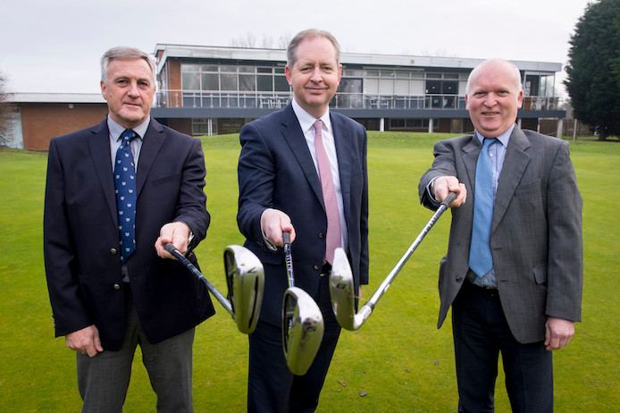 L-R: Neil Waterhouse from HSBC, Neal Hammond (director of Ganstead Park Golf Club) and Mike Milner (general manager of Ganstead Park Golf Club).     Picture courtesy of Darren Casey/DC imaging