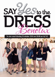 """Collaboration with Koonings the Weddingstore in introduction TLC's """"Say yes to the dress""""."""