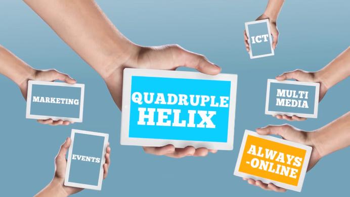 Quadruple helix model. Where all expertise