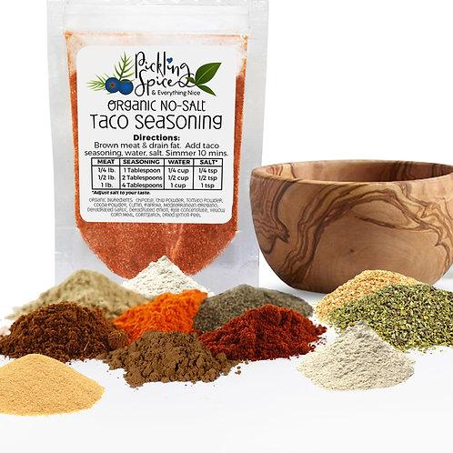 Organic Taco Seasoning No-Salt 2oz Bag