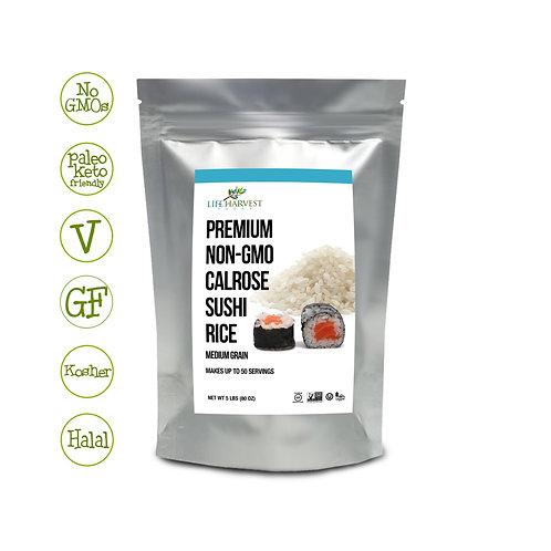 Non-GMO Calrose Medium Grain Sushi Rice Kosher Halal 5 LB