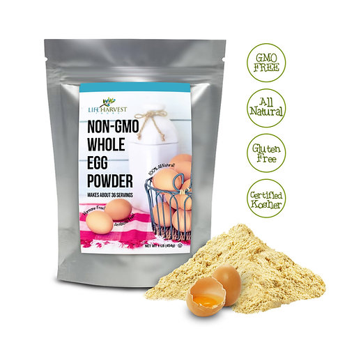 Non-GMO Whole Egg Powder 1lb - Gluten Free & Kosher