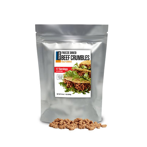 Premium Freeze Dried Cooked Beef Crumbles