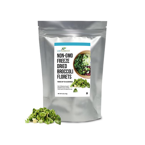 Freeze Dried Broccoli Florets Non-GMO Kosher 6 oz