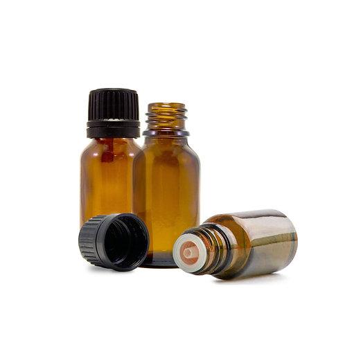 Essential Oil Bottle Amber Glass Euro Dropper 15mL 3-Pack