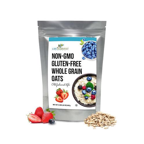 Gluten Free Whole Grain Oats Non-GMO Kosher 32oz (2LB)