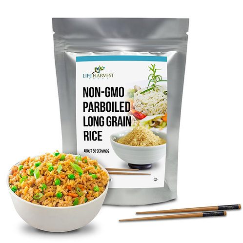 Non-GMO Parboiled Long Grain Rice Kosher Halal 5 lbs